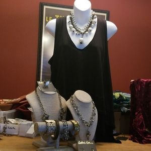 $68 NWTS Free People Top +Cookie Lee Jewelry Lot!